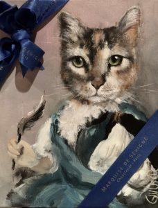 Portrait de peintures de chat peintre en décors Seine et Marne